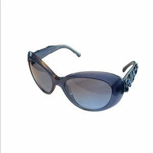CHANEL Camellia Cat-Eye Sunglasses